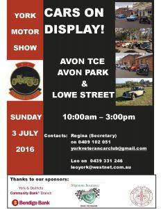 York Car Show Poster 2016